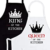 Mr. & Mrs. 2-Piece Apron Set - Matching Engagement Wedding Anniversary Bridal Shower Gift