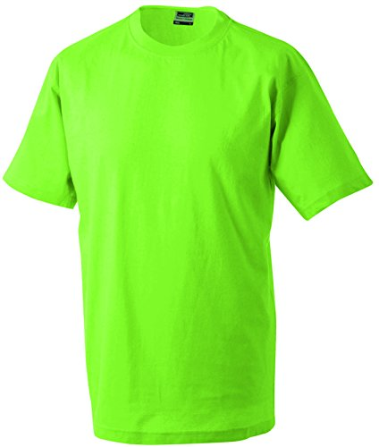 manga Round hombre Camiseta Verde heavy t Cuello 5xl de corta Camiseta lima jersey redondo Estampado Single para Talla S SY5pPx5qw