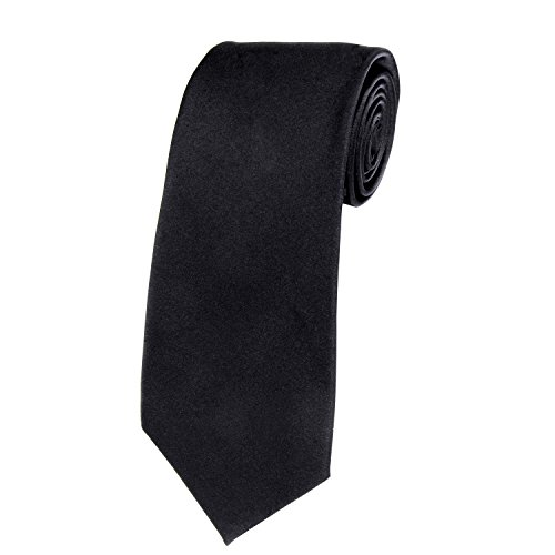 Solid Color Satin Ties Mens Neckties with Gift Box by Doninex - Tie Shiny
