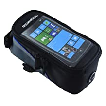 Touring Bicycle Bike Cycling JFLY Frame Pannier Waterproof Bag Touch Phone Case for Phone Cell Blue Black