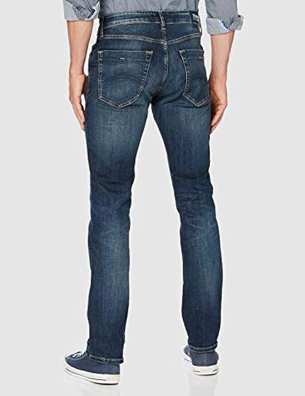 Tommy Jeans Scanton Slim Dndbst spodnie męskie (Scanton Slim Dndbst), kolor: Denim Not Applicable, rozmiar: 34W / 32L: Odzież