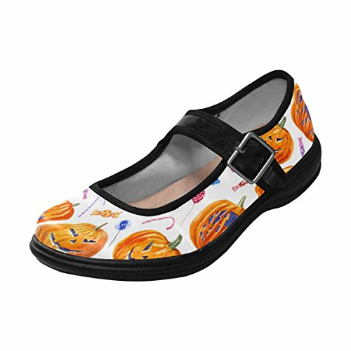 Flats Comfort Casual 9 Womens Shoes Walking InterestPrint Jane Mary Multi wBqPH7TwR