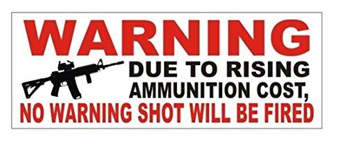 1 Pc Classical Popular Gun Control Warning Car Sticker Vinyl Decal Windows Decor USA Bumper Size 3' x 8' Color Black and Red