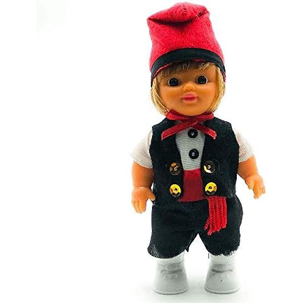 Folk Artesanía Muñeco Regional colección de 15 cm con Vestido típico Catalán con barretina Barcelona Cataluña España.: Amazon.es: Juguetes y juegos