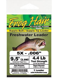 (Frog Hair 9.5' Supple Butt / Supple Tip Tapered Leader (3X))