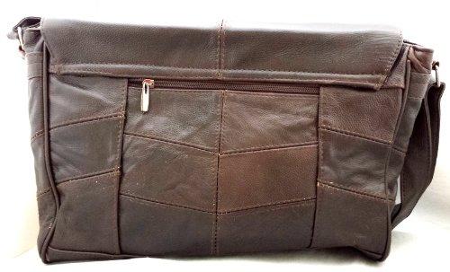 Donna Pelle Morbida Borsa Borsa/Borsa a tracolla con tracolla regolabile in marrone con portamonete