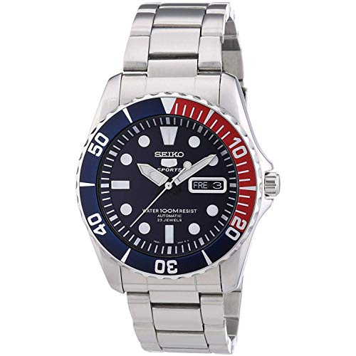 (Seiko 5 Blue Dial Stainless Steel Automatic Mens Watch)