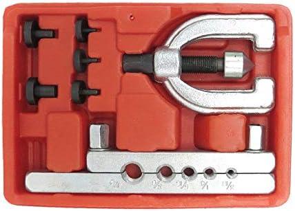メトリックダブルフレアブレーキラインツールキットパイプフレアキットブレーキ燃料チューブ修理自動車用フレアパイプ用フレアツールセット