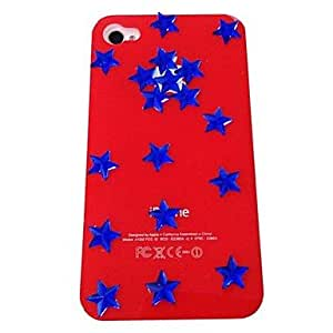 LIMME Punk Stars Pattern Bear Plastic Hard Case for iPhone 4/4S , Multicolor