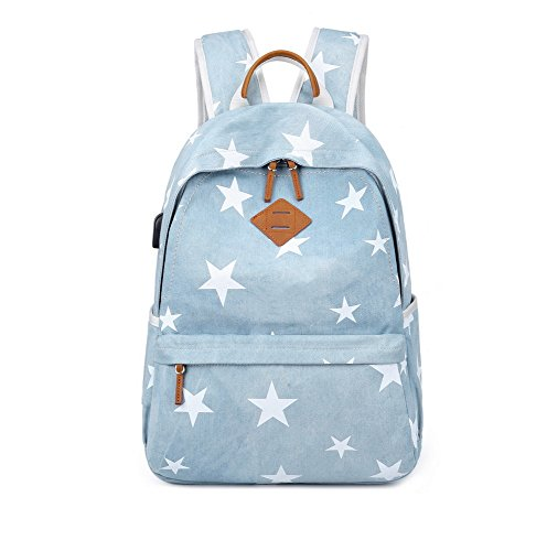 Joymoze Vintage Canvas School Backpack for Teen Girls Fashion Women Rucksack (Double Headed Nickel)