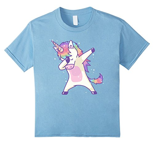 Bunny In Pug Costume A (Kids Women's Dabbing Unicorn Shirt Dab Hip Hop Magic Girl Clothes 12 Baby)