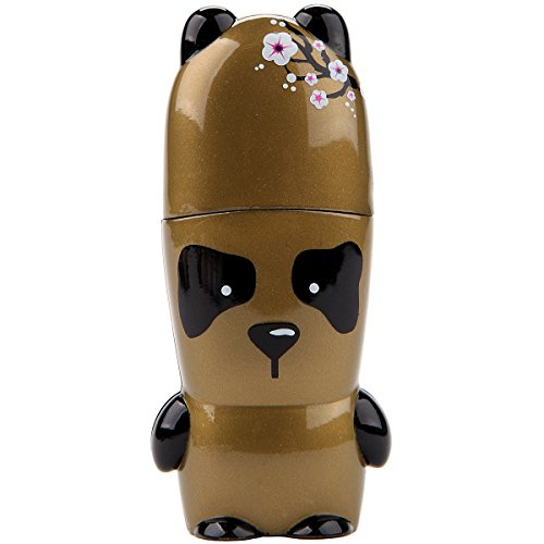 - 16GB Golden Panda by ShanDurRah MIMOBOT Designer USB Flash Drive with bonus preloaded Mimory content, Limited Edition by Mimoco - Artist Series