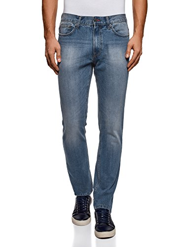 Oodji Ultra Uomo Jeans Basic A Vita Media Blu (7401w)