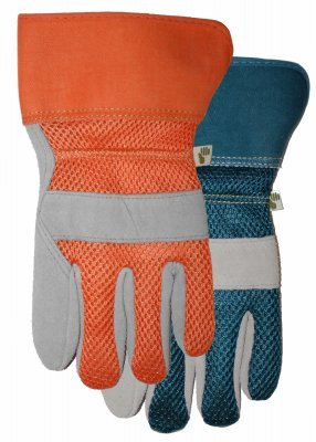 Midwest 534D4 Suede Leather palm Gloves Ladies, Size Medium, Blue by Midwest Gloves