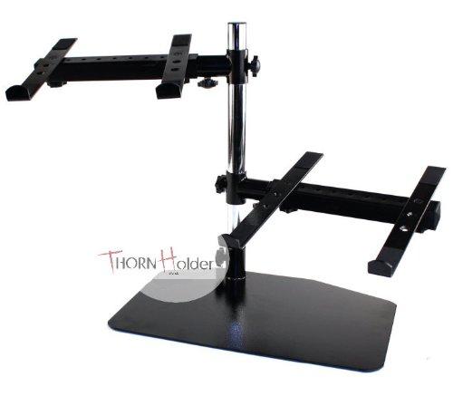 Double DJ PA Mixer Laptop CD Player Studio Gear Rack Mount Dual Stand Computer PC Table Top Work Station PA Thorn Holder - Dual Cd Dj Mixer
