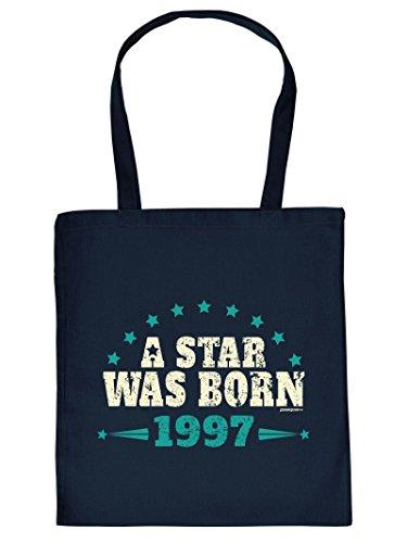 A STAR WAS BORN 1997 :Tote Bag Henkeltasche. Beutel mit Aufdruck. Tragetasche, Must-have, Stofftasche