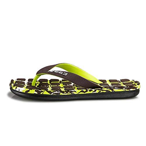2018 Eu Sandales De Rouge Confortable Taille Taille Vert couleur Tongs coloré Sandals 44 Vert Slipper Men Classiques Thong 40 Plage Fuxitoggo BnwqdZ1zxB