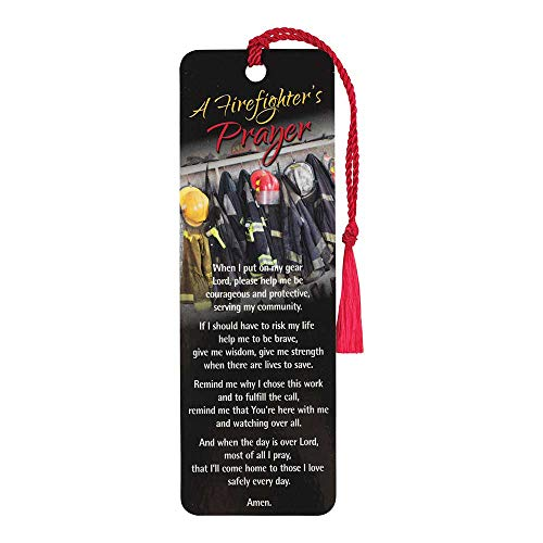 (A Firefighter's Prayer Uniform Onyx Cardstock Tassel Bookmark Tags, Pack of 12)