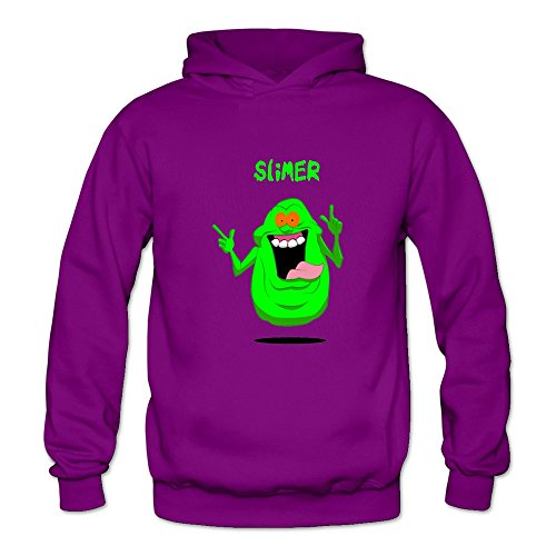 TIKE Women's The Real Ghostbusters Game Slimer Hoodies Sweatshirt Color Purple Size XXL