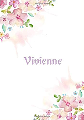 e07ef10b9b Vivienne: 7x10 inches 110 Lined Pages 55 Sheet Floral Blossom Design ...