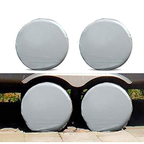 Set of 4 Tire Covers, Aluminum Film Tire Sun Protectors, Universal Fits 27