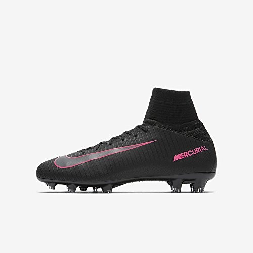 Nike Youth Mercurial Superfly V Firm Ground Cleats [Black/Black] (4.5Y)