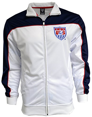 Adult Jersey Soccer Officials - USA Jacket Track Soccer Blue New Season Adult Sizes U.S. Soccer Football Official Merchandise (M)