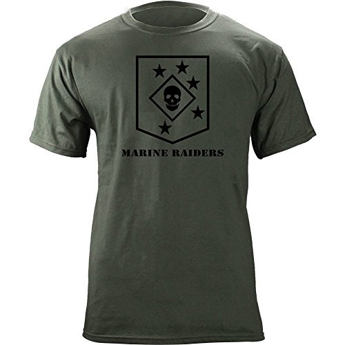 Marine Raiders Subdued Veteran T-Shirt (XL, Green)