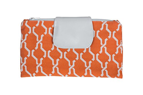 Caught Ya Lookin' Diaper Clutch, Orange Hexagon