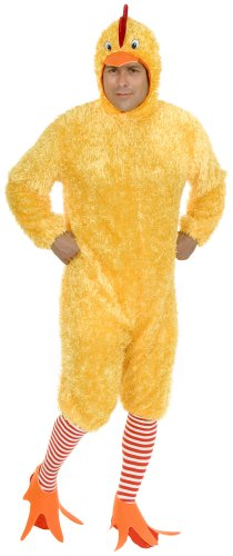 Charades Men's Adult Plus-Size Funky Chicken Costume Set, Yellow, 1X (Chicken Costumes For Adults)