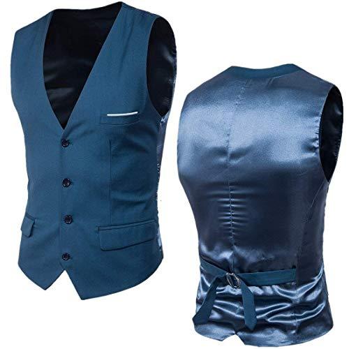 Meeres Mens Blau Ge Nouveau Patchwork Mariage Fit Suit De Robe Anz Slim La Taille Essentiel Gilet Mode Plus Vest Fq8TBT