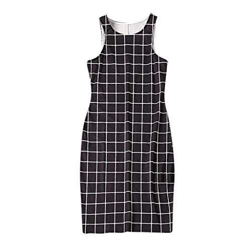 EnjoCho 2019 New Mother Daughter Dresses Family Matching Outfits Popular FASHIOH Mother-Daughter Lattice Plaid Vest Dress Mom Baby Dress (Size:S, Women)