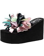 Sencillo Vida Zapatos de Playa Mujeres Bohemias 2019 Flip Flops de Plataforma Chanclas para Mujer Sandalias de Punta Descubierta para Mujer Zapatillas Antideslizante Aire Libre