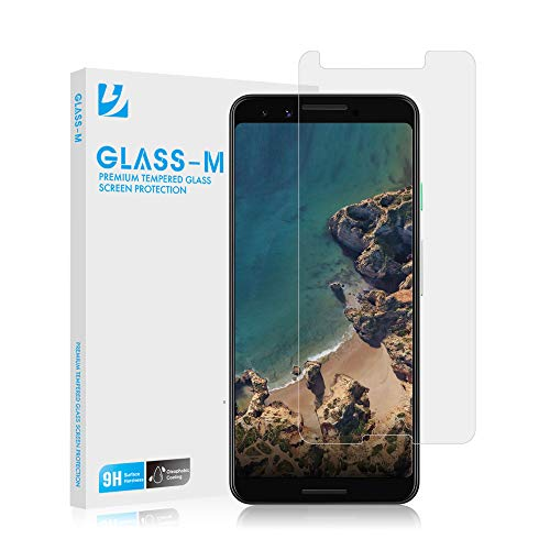 GLASS-M Google Pixel 3 Tempered Glass Screen Protector, Ultra Clear, Scratch Resistant, Bubble Free, Anti-Fingerprint Screen Protector Film, 9H Hardness, Case Compatible Premium Protection Shield