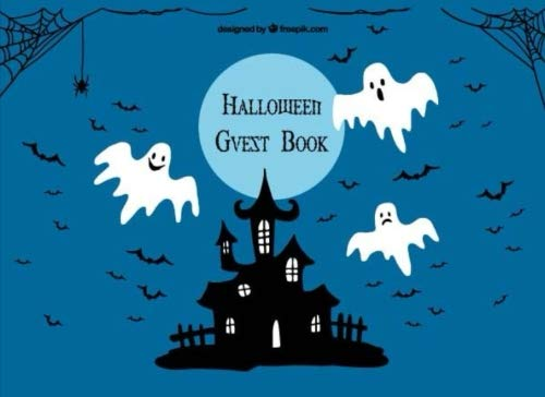 Halloween Guest Book: Scary Halloween Party. Halloween Costumes Parties Prop Cover, Sign in, Invitation, Book, Diary, Special Memories, Messages, ... Pages. (Party Seasonal Sign in) (Volume 3) -