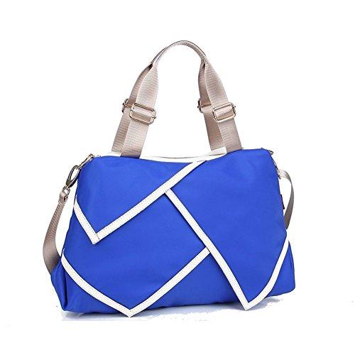 Walcy Nylon Korean Style Women's Handbag,Square Cross-Section Splicing Packet - Swaroski Sunglasses