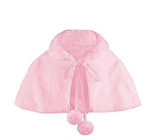 Shop Ginger Wedding Flower Girl Faux Fur Shawl Wraps Cape Kids Communion C3 (M, Pink) by Shop Ginger Wedding