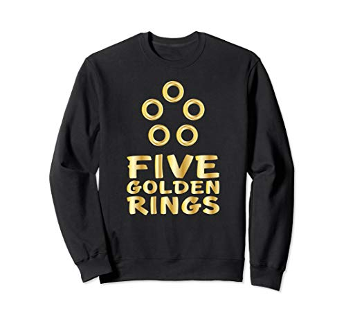 Jumper Ring - Five Golden Rings 12 Days Christmas Sweatshirt Song
