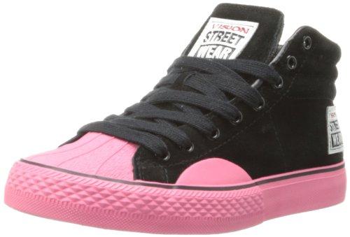 Vision Street Wear Dames Suède Hi Sneaker Zwart / Roze