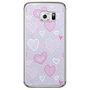 Loud Universe Samsung Galaxy S6 Edge Love Valentine Printing Files Valentine 164 Printed Transparent Edge Case - Multi Color