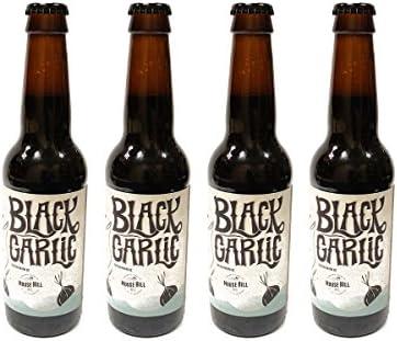 Mouse Hill - Pack de 4 botellas de Cerveza Artesana Black Garlic, con Ajo Negro. Premio Silver en BARCELONA BEER CHALLENGE 2016: Amazon.es: Alimentación y bebidas