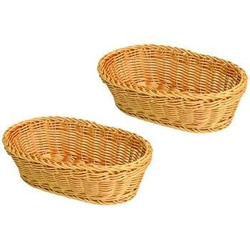 amazon com bread roll basket 12 x 8 x 3 rectangular woven