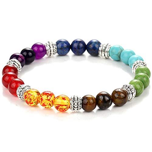 Monet Bracelet Pattern (Black Lava Beads Bracelet Women Men Balance Yoga Jewelry pulseira Feminina Buddha Prayer,Colorful)