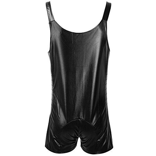 14715b89729c Jual iEFiEL Mens Wet Look Butcher Zipper Romper Bodysuit Clubwear ...