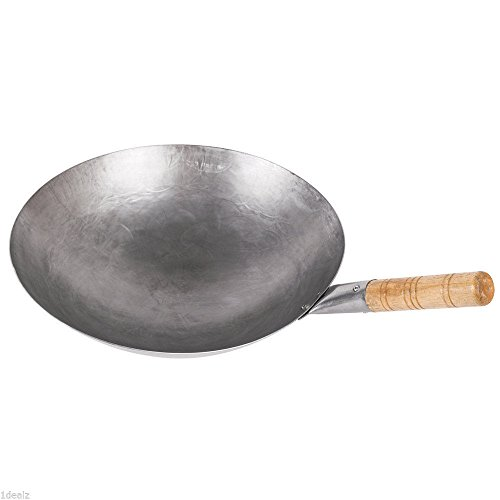 Mandarin Wok (#1 Brand Town 14`` Mandarin Carbon Steel Wok with Wood Handle 34702 + Rebate /&supplier-1dealz)
