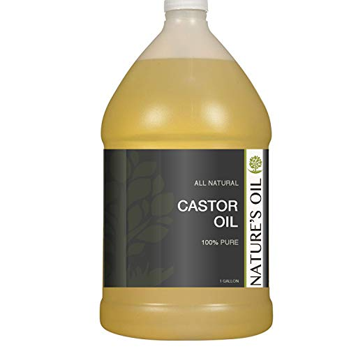 Castor Oil Gallon - 100% Pure Carrier for Massage, Diluting Essential Oils, Aromatherapy, Hair & Skin Care Benefits, Moisturizer & Softener - by Nature's Oil.