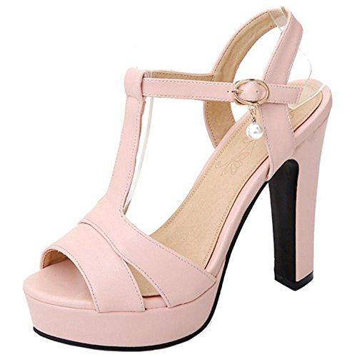 Mujer Zapato Toe Alto Costo Bajo Peep Tacon De Correa Moda Coolcept SVpqUGMz