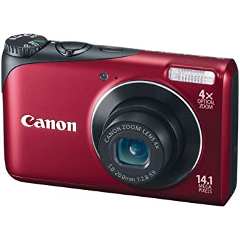 Canon Powershot A2200 14.1 MP Digital Camera with 4x Optical Zoom (Red)