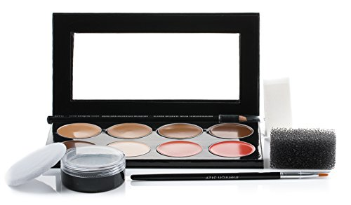 Mehron Makeup Mini-Pro Student Makeup Educational Kit MEDIUM DARK/DARK -