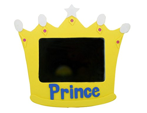 "EMILYSTORES Princess Prince Toys Unbreakable Size 5"" Prince Mirror For Children Kids Royal Crown Yellow Color"